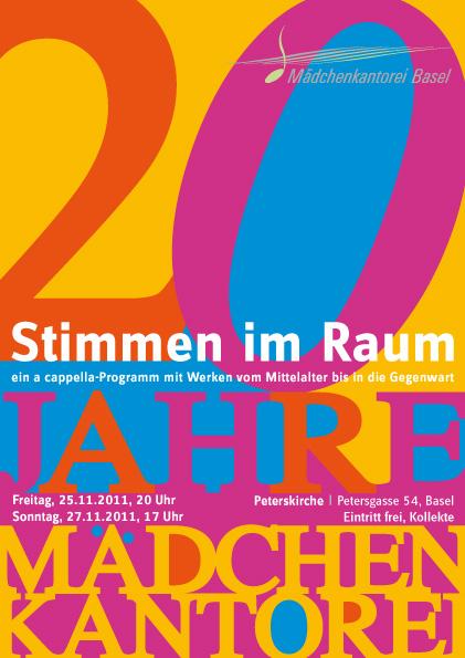 Flyer Layout: Konzert Mädchenkantorei Basel