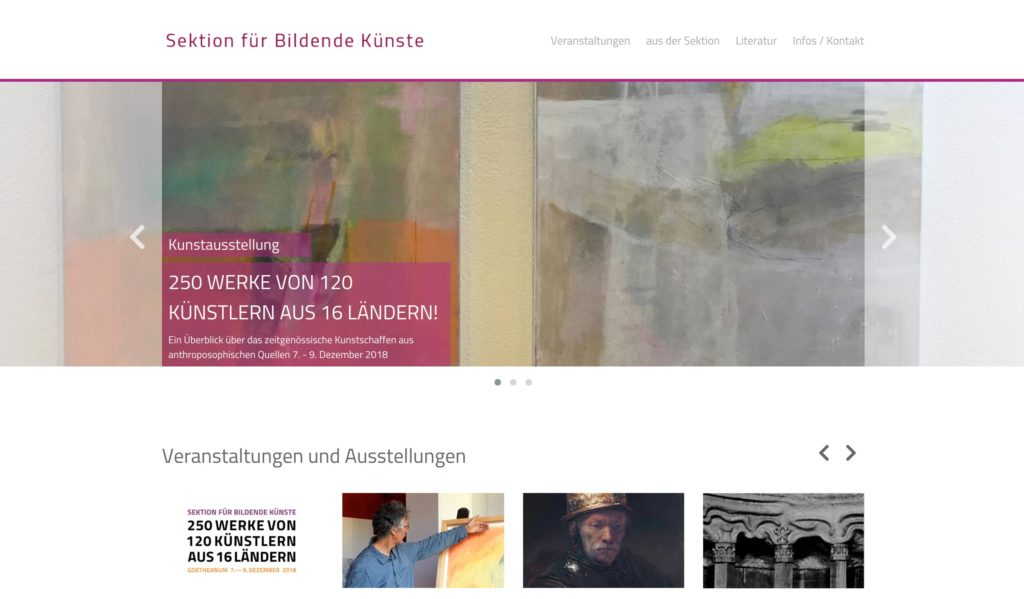 Webkonzept: Sektion Bildende Künste
