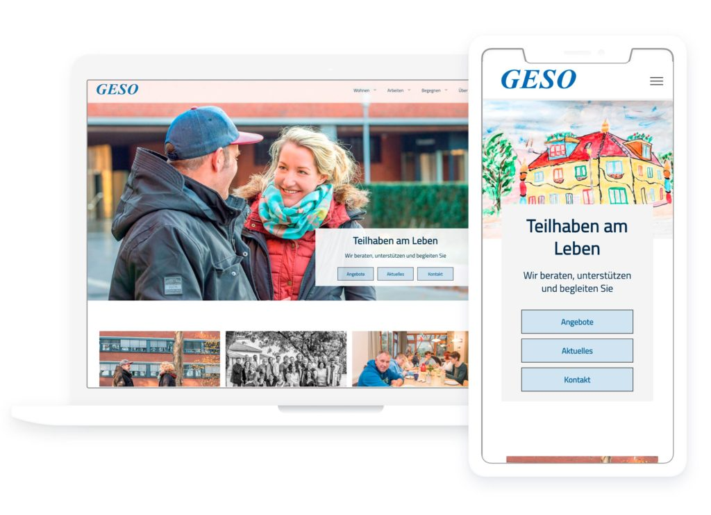 """Weblayout für die """"GESO"""""""